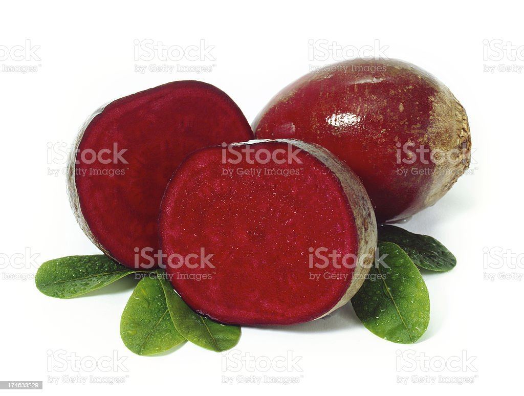 Beetroot with Leafs royalty-free stock photo