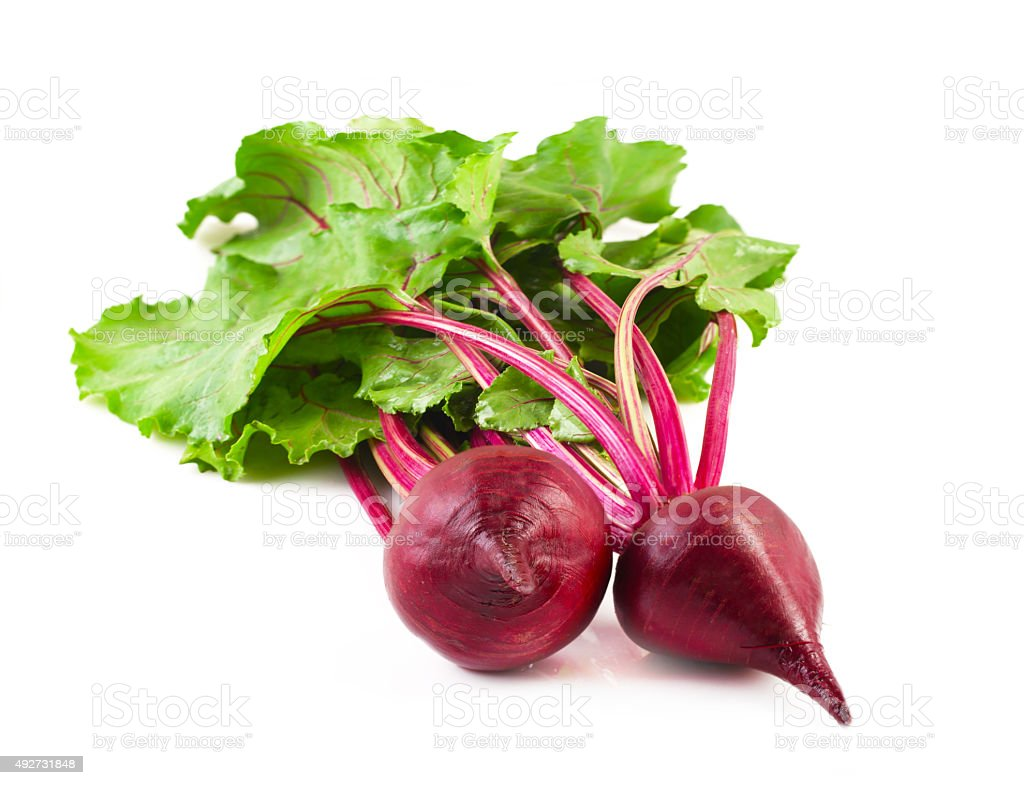 Beetroot with leaves. stock photo