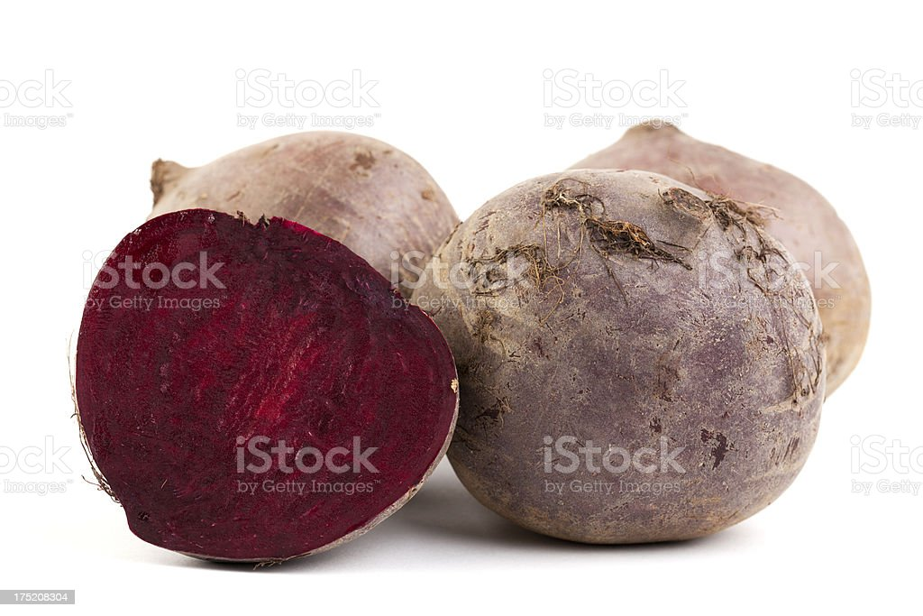 Beetroots isolated on white stock photo