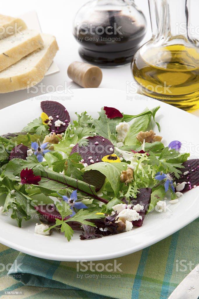 Beets And Baby Greens Salad royalty-free stock photo