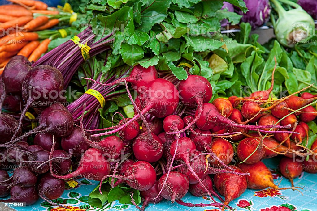 Beets at Farmer's Market stock photo