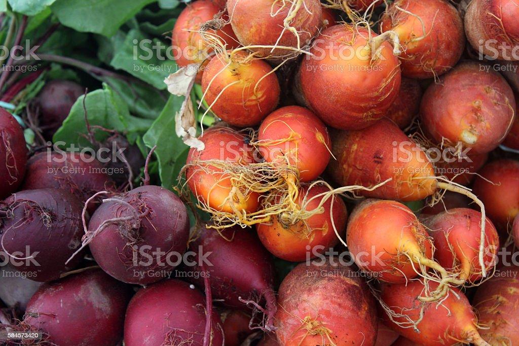 Beets at the Farmer's Market stock photo