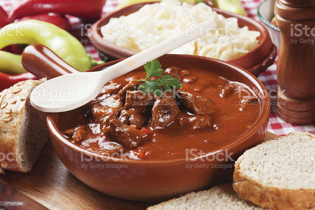 Beew stew or goulash stock photo