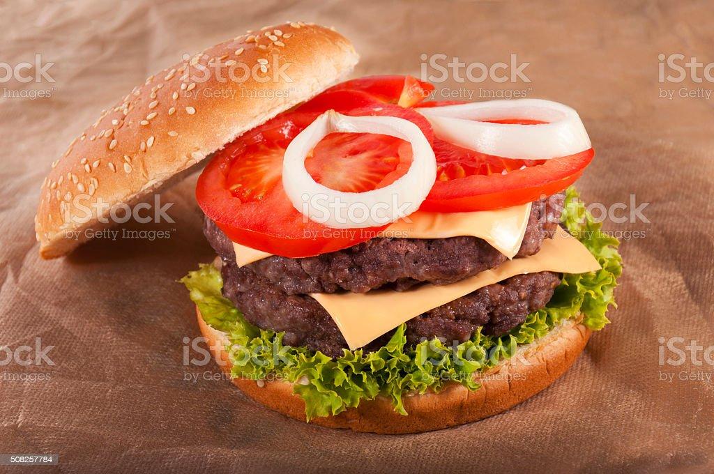 Beff burger stock photo