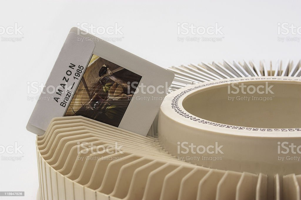 Before a slide projection stock photo