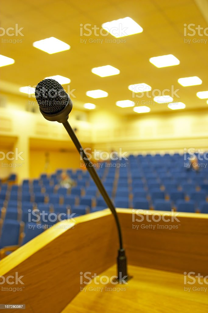 Before a speech royalty-free stock photo