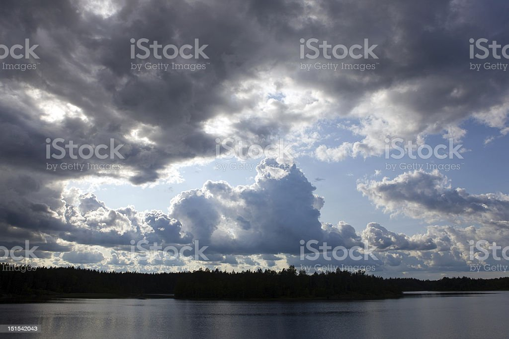 Before a thunder-storm royalty-free stock photo