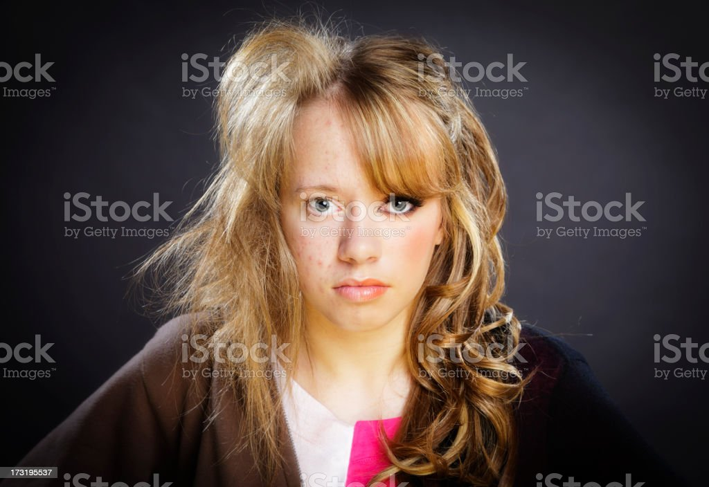 Before and After Teenage Girl stock photo