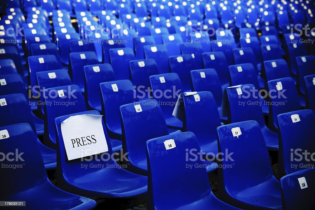 Before press conference royalty-free stock photo