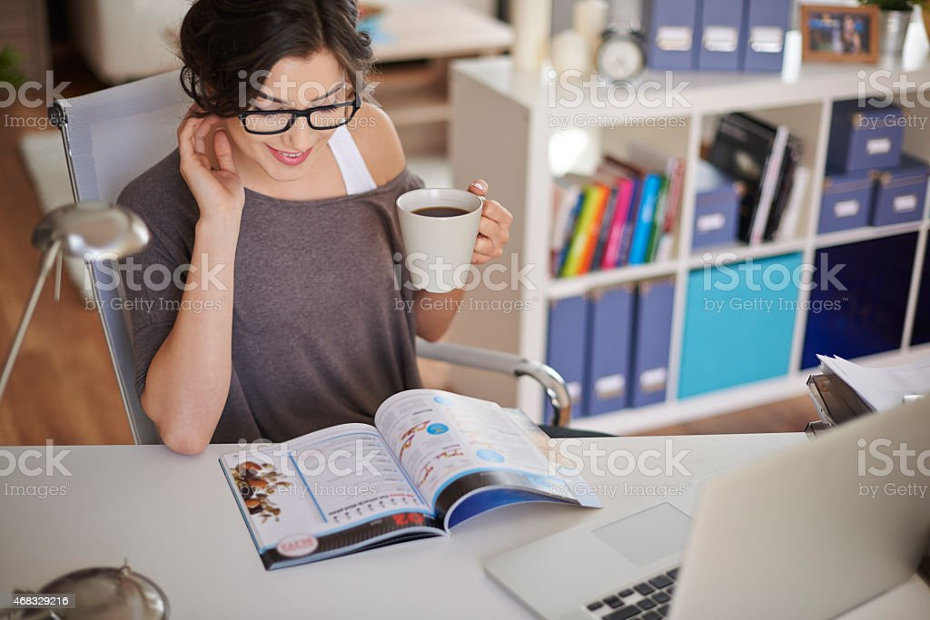 Before start the work I have to check news stock photo
