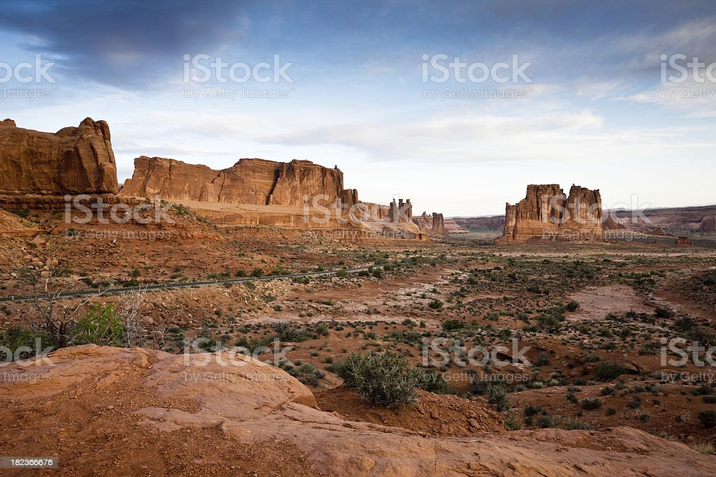 Before sunrise at Arches National Park stock photo