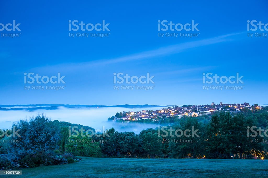 Before sunrise at Domme stock photo