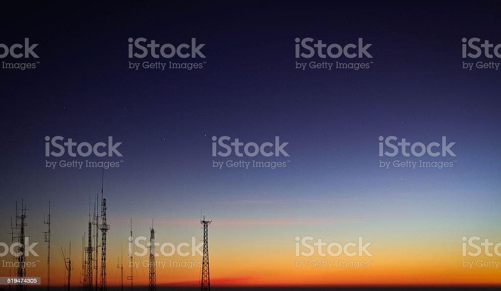 before sunrise stock photo