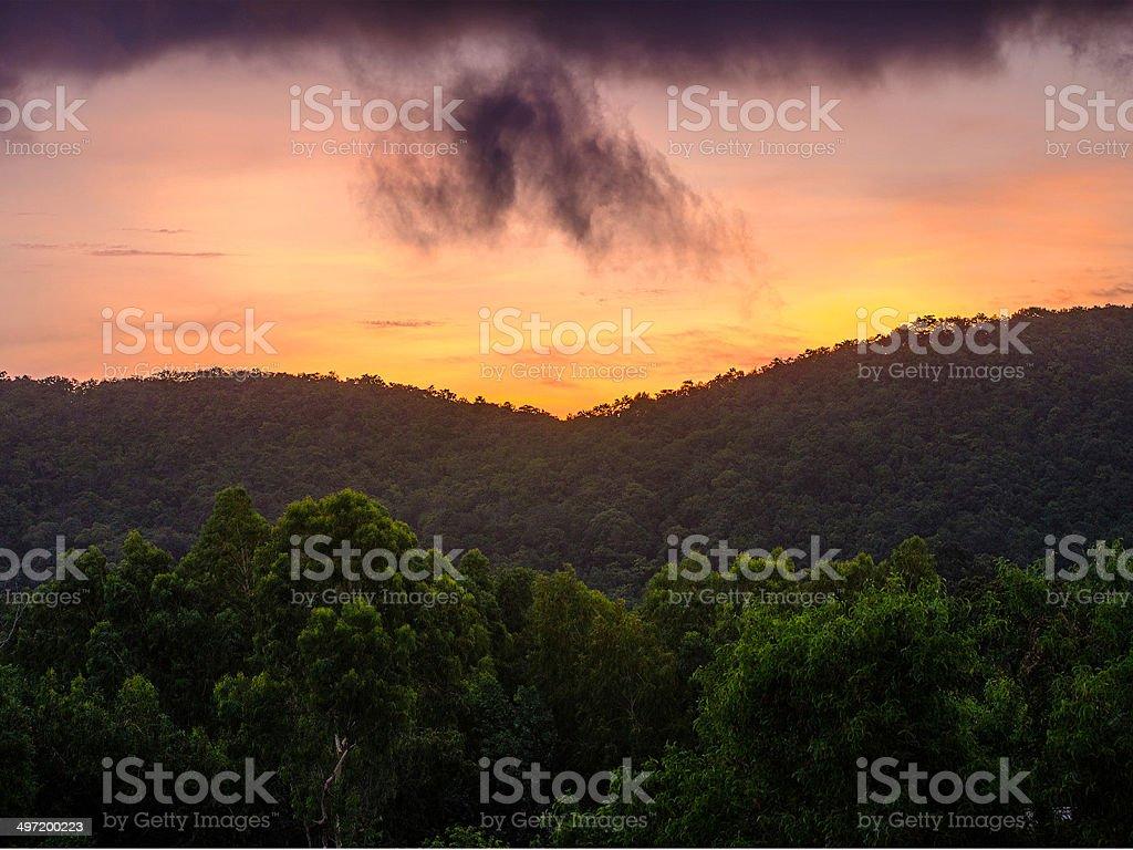 Before Sunrise Thailand Chantaburi province stock photo