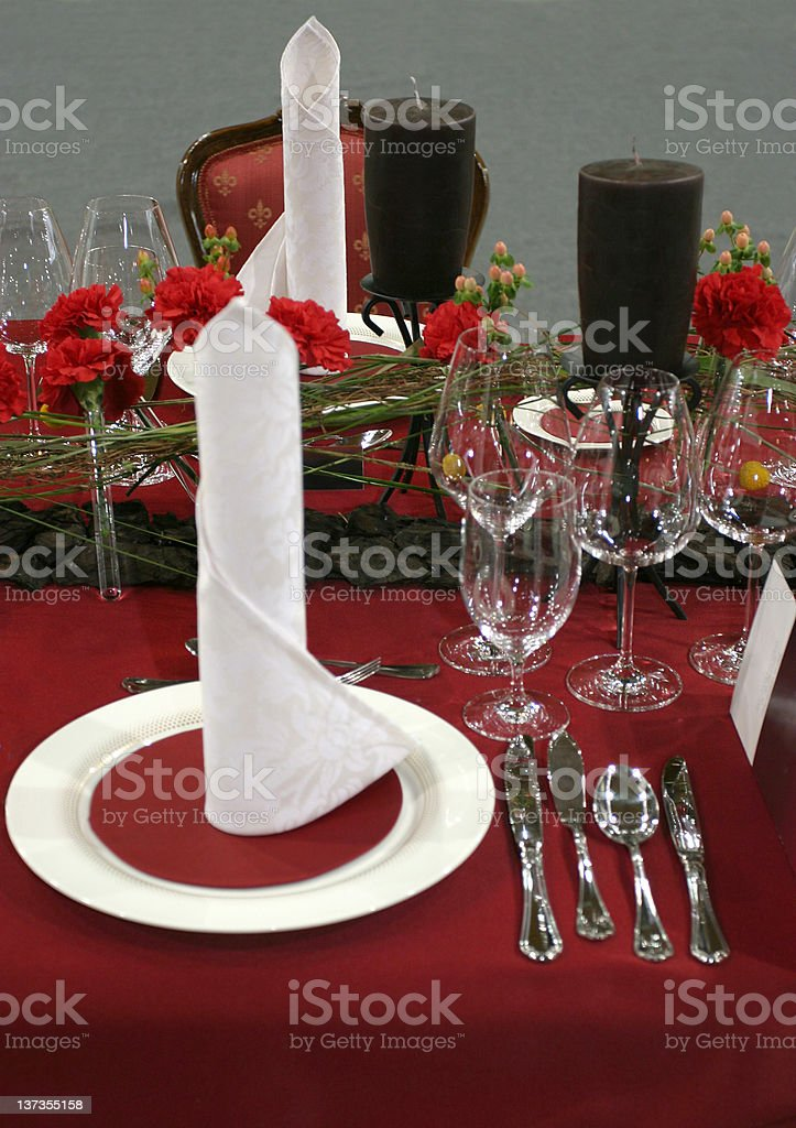 Before the guests arrive royalty-free stock photo
