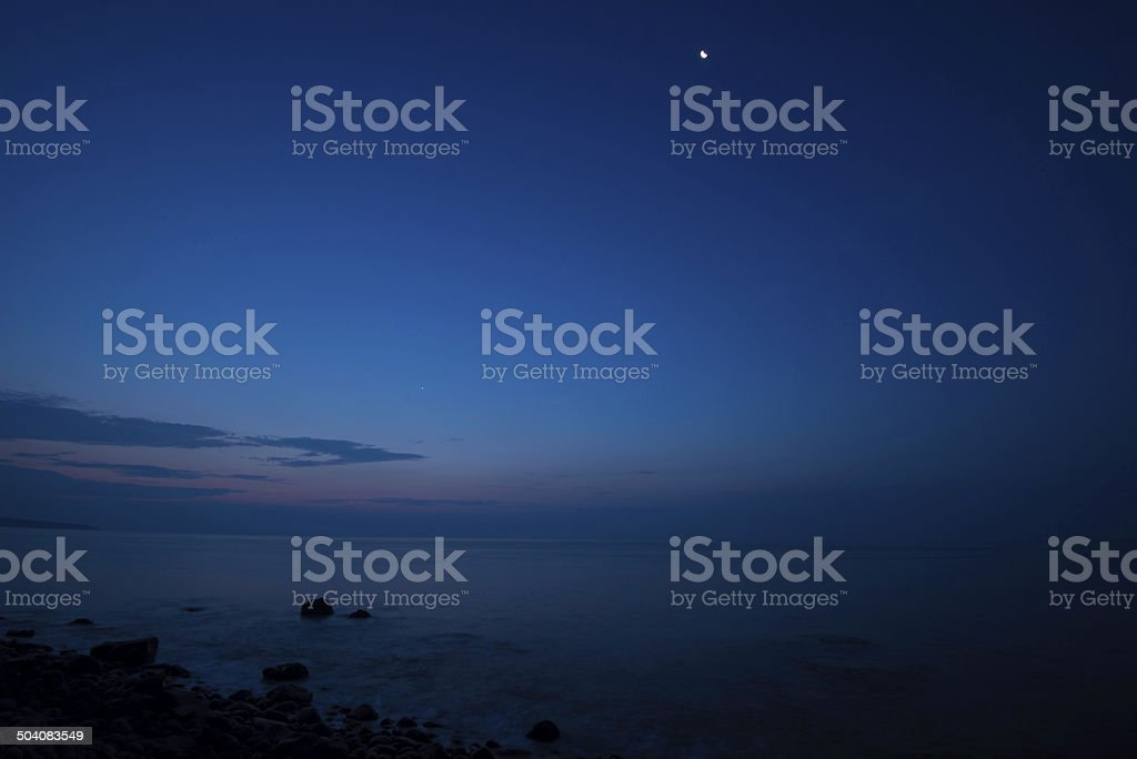 Before the sun comes up stock photo