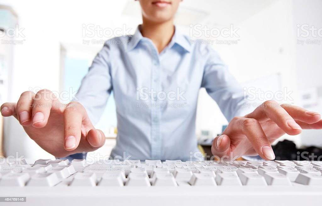 Before typing stock photo