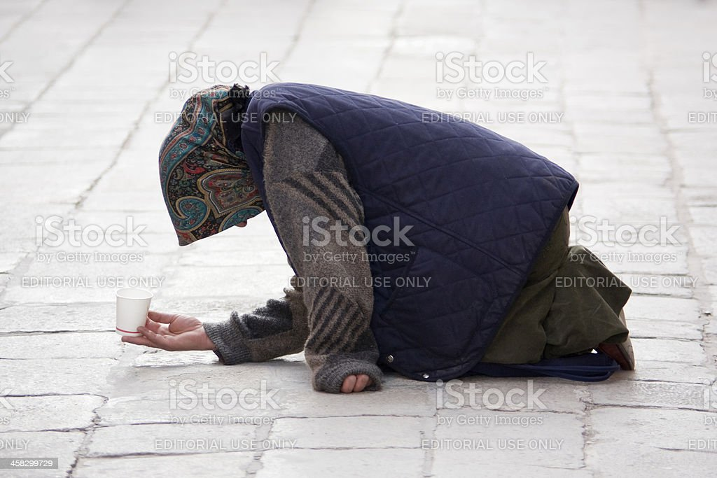 beggar on the street royalty-free stock photo