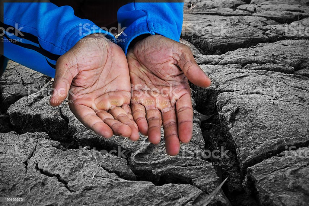Beggar people and human poverty concept royalty-free stock photo