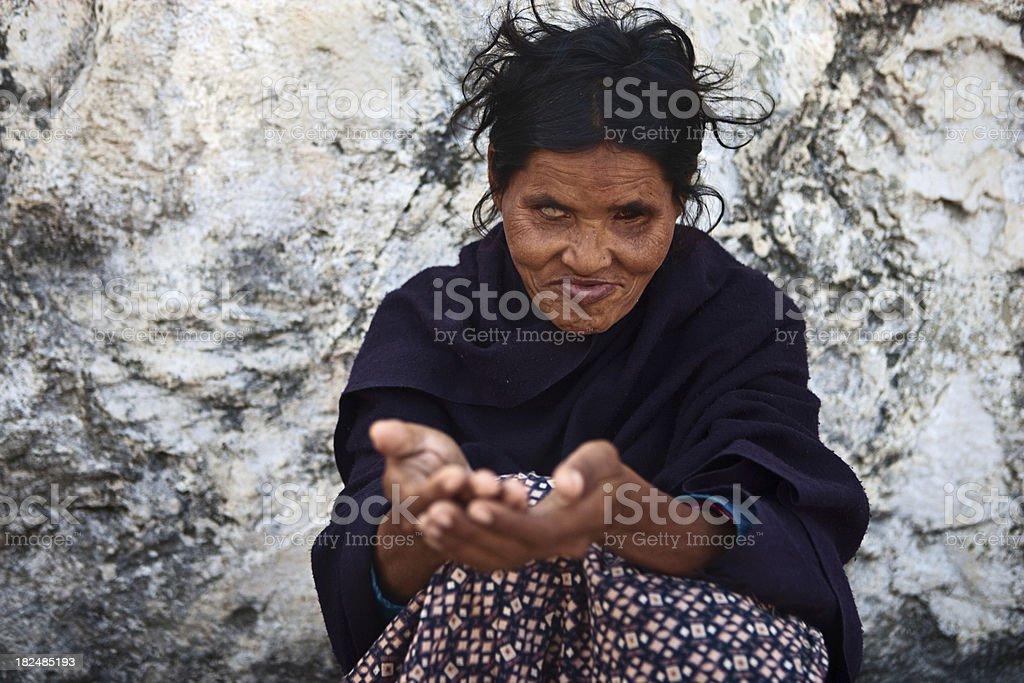 Beggar royalty-free stock photo