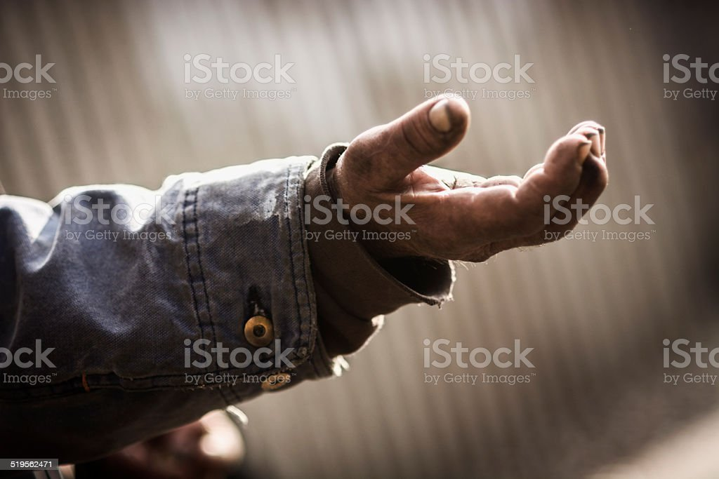 Beggar stock photo