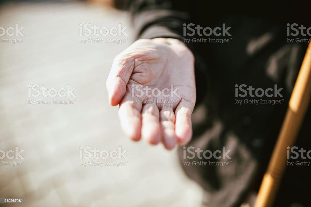 Beggar stock photo