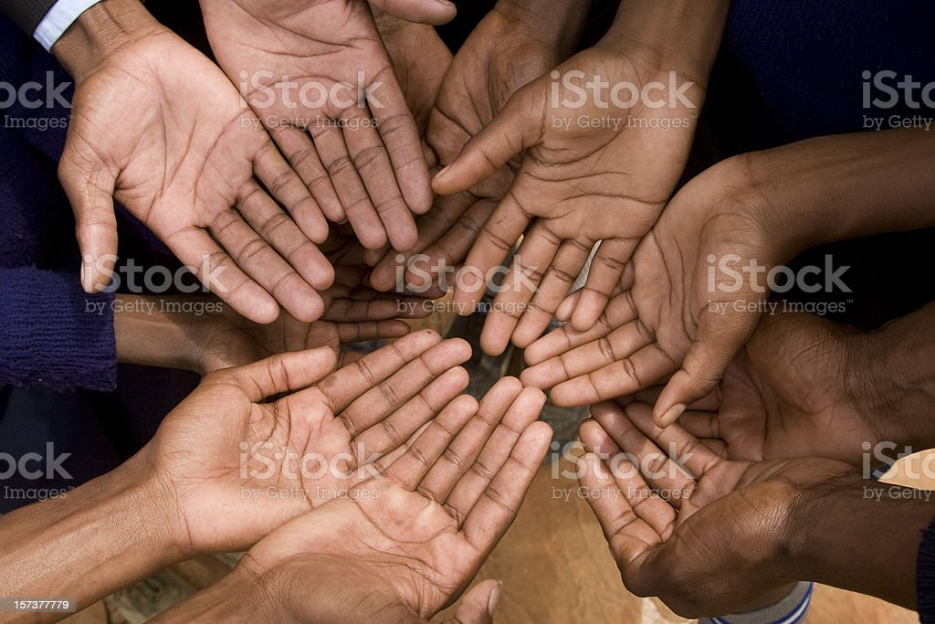 Begging African people royalty-free stock photo