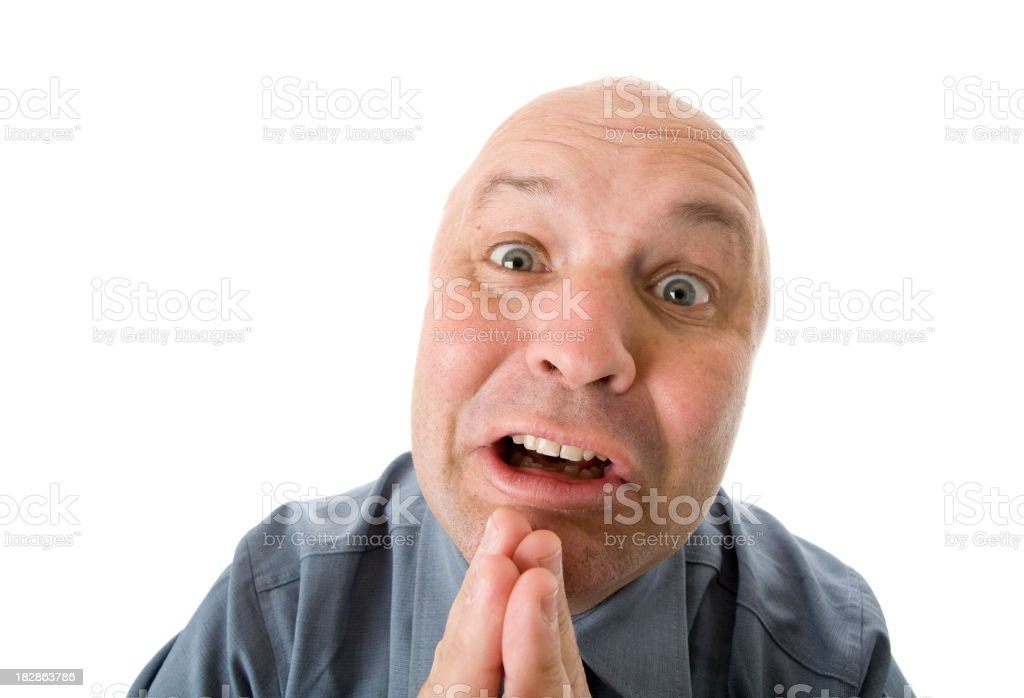 Begging Business Man stock photo