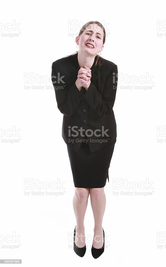 Begging Business Woman stock photo