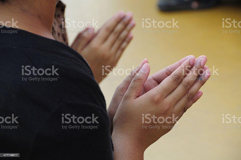 Begging for blessings stock photo