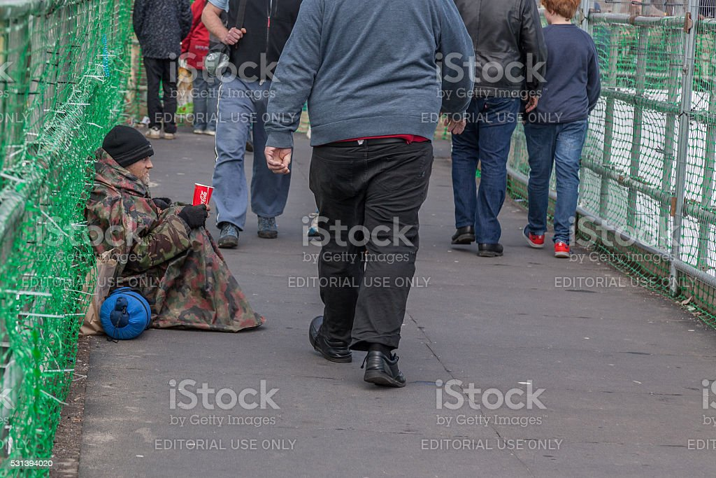Begging Homeless Person stock photo