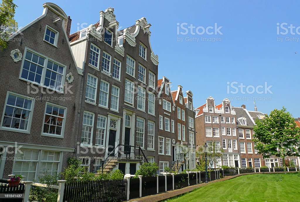 Begijnhof facades stock photo