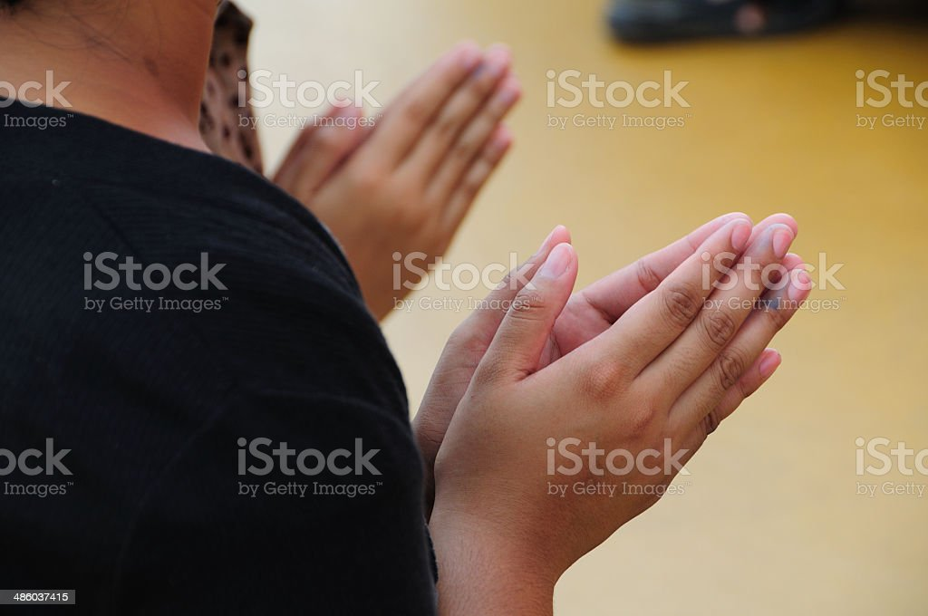 beging of blessing in thai local stock photo