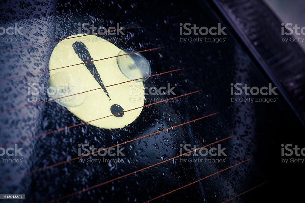 Beginner driver sign stock photo