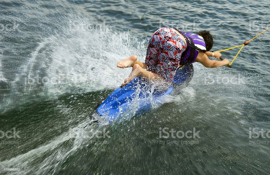beginner wakeboarder royalty-free stock photo