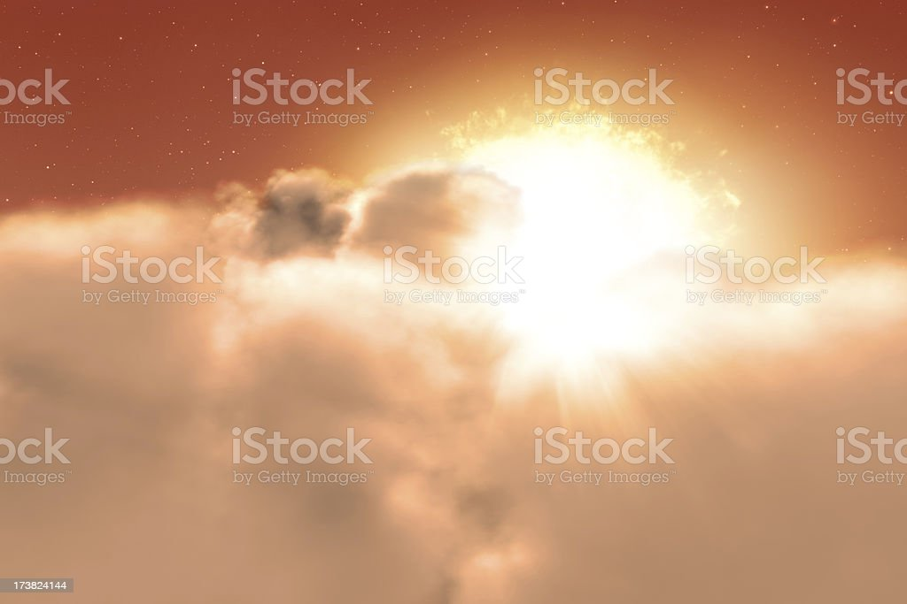 Beginning of a new day - red stock photo