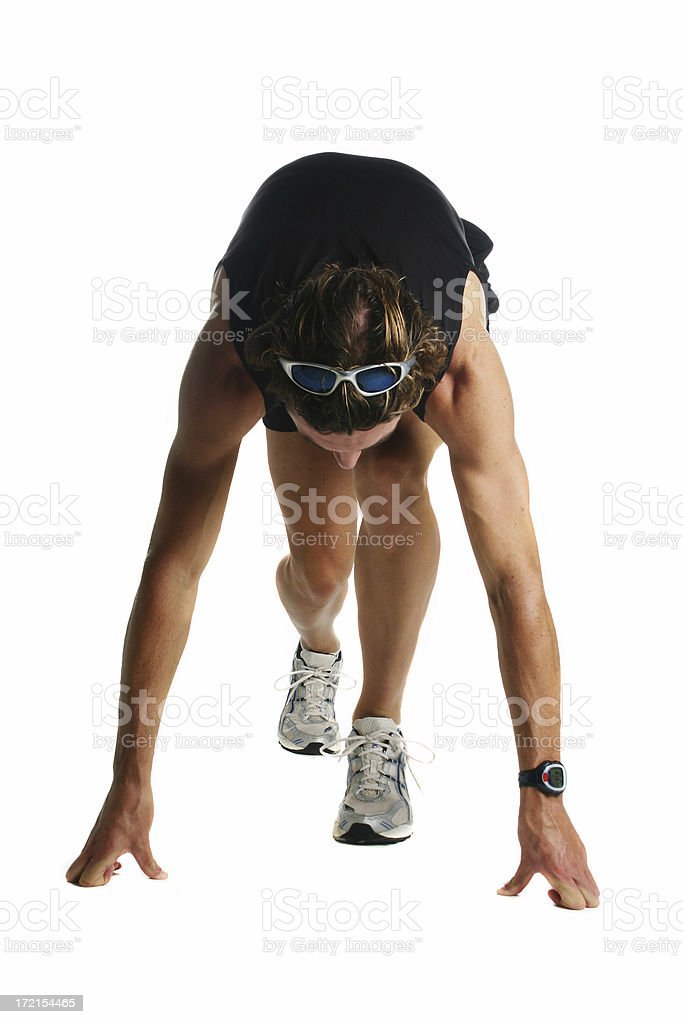Beginning of a race royalty-free stock photo