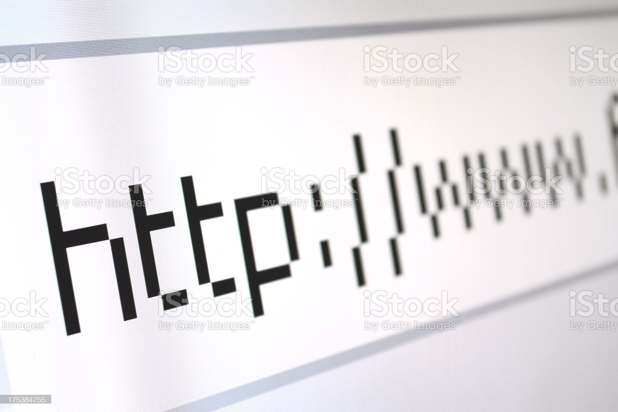 Beginning of an Internet web address royalty-free stock photo