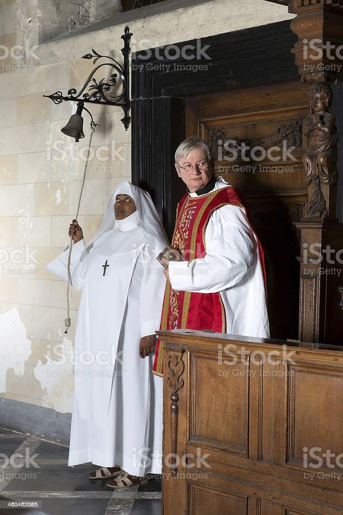 Beginning of catholic mass stock photo