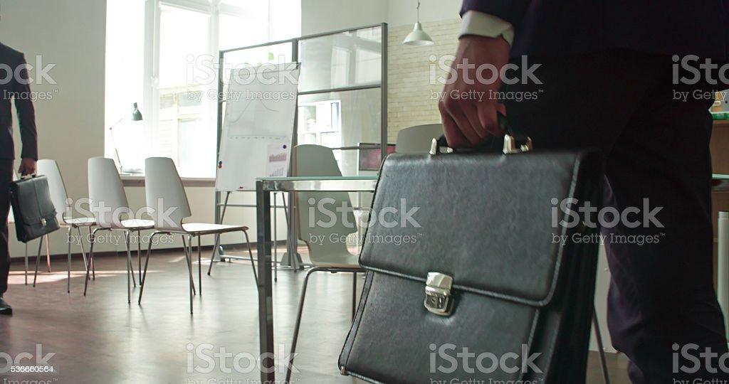 Beginning of meeting stock photo