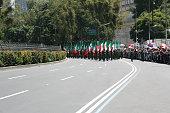Beginning of México Bicentennial militar parade.