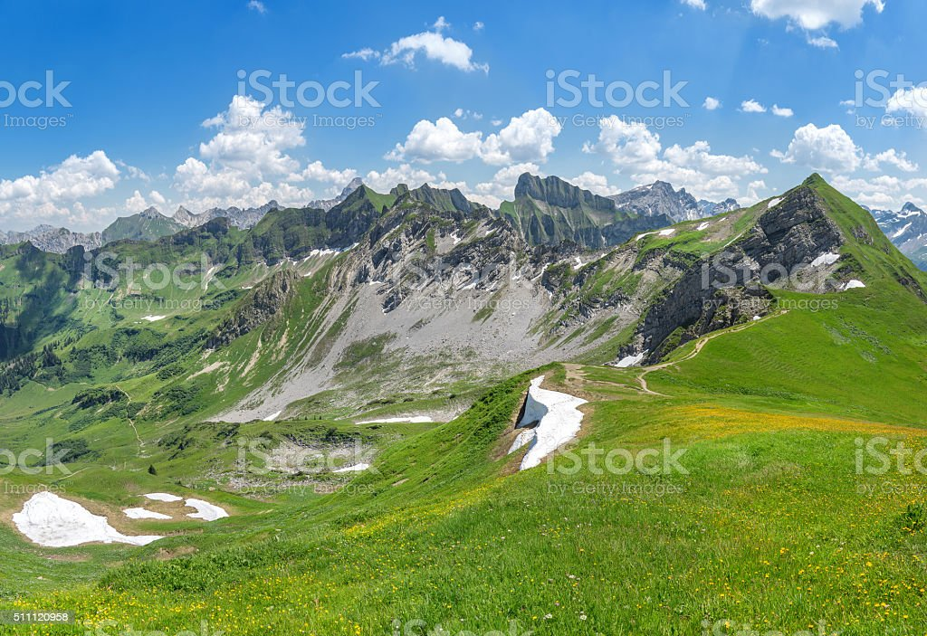 Beginning of summer in the Allgau Alps stock photo