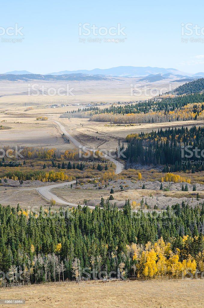 Beginning of the Boreas Pass in the Colorado Rockies stock photo