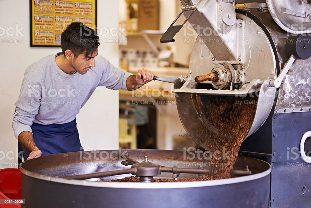 Beginning the journey to your cup stock photo