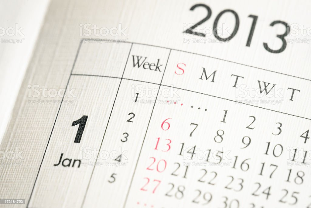 Beginning The Year 2013 stock photo