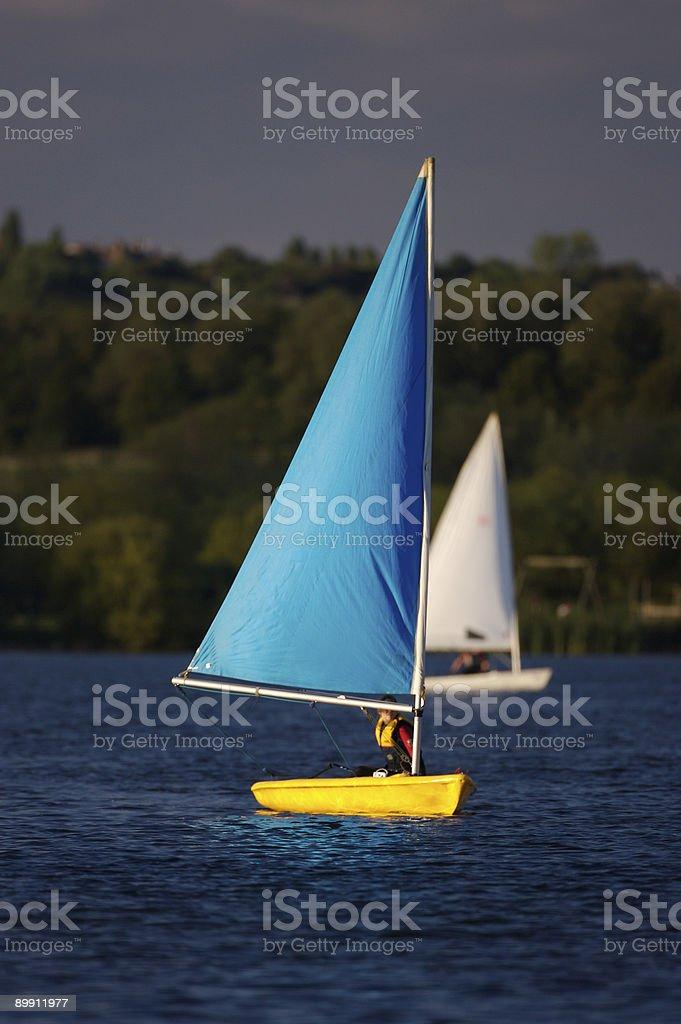 Beginning to Sail royalty-free stock photo