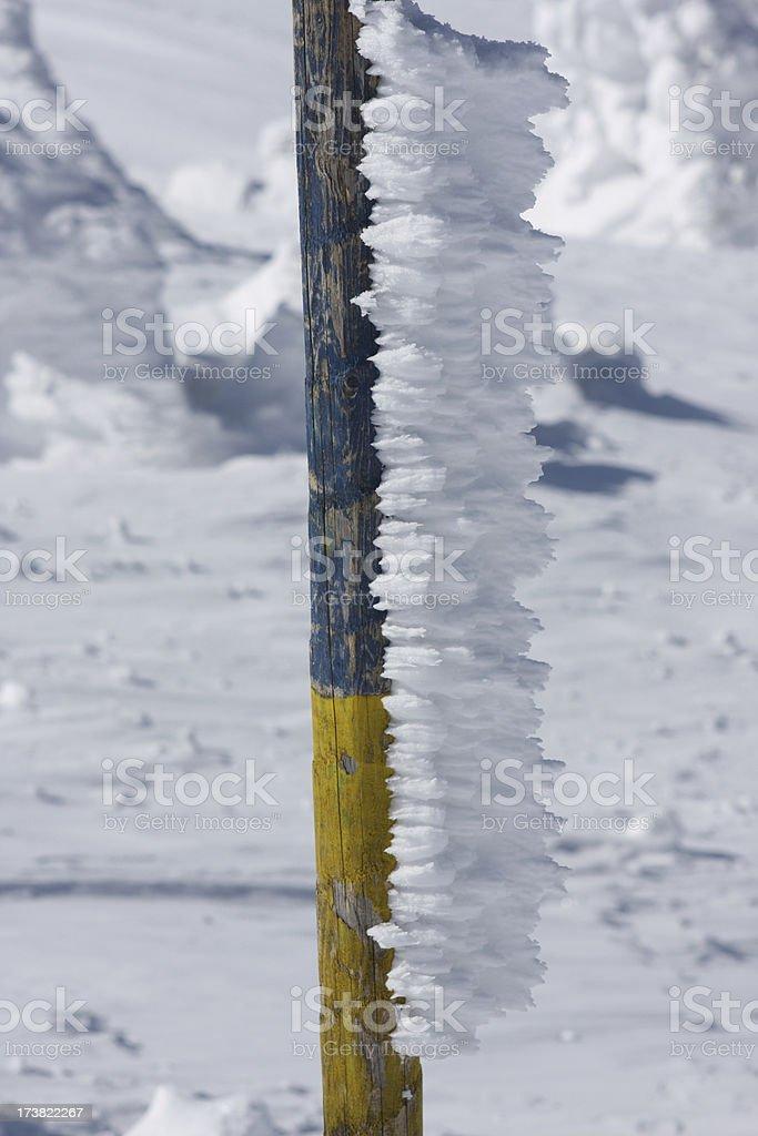 Begrenzungsmast stock photo