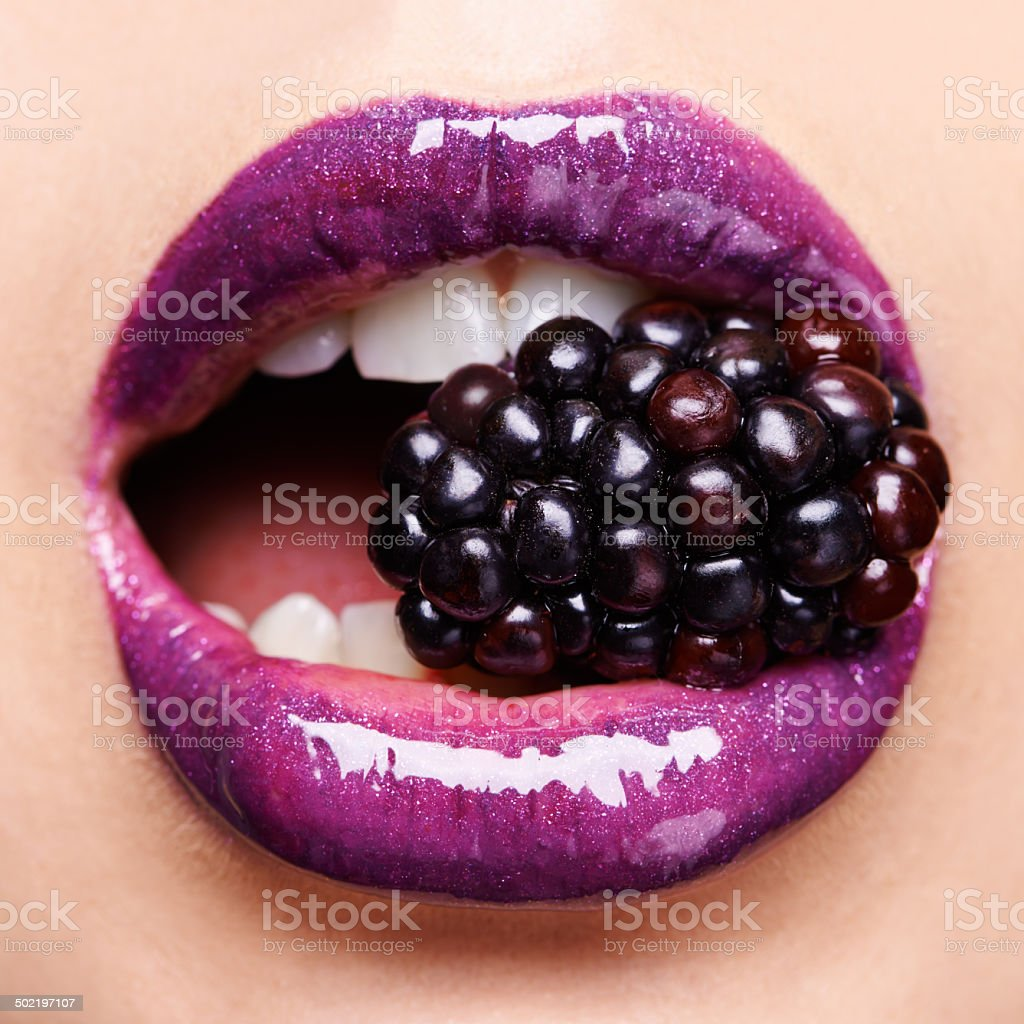 Beguiling blackberry stock photo