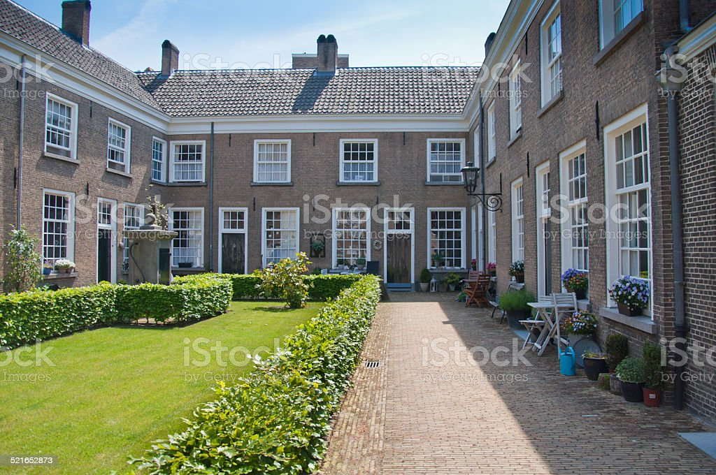 Beguinage  in the Dutch city of Breda stock photo