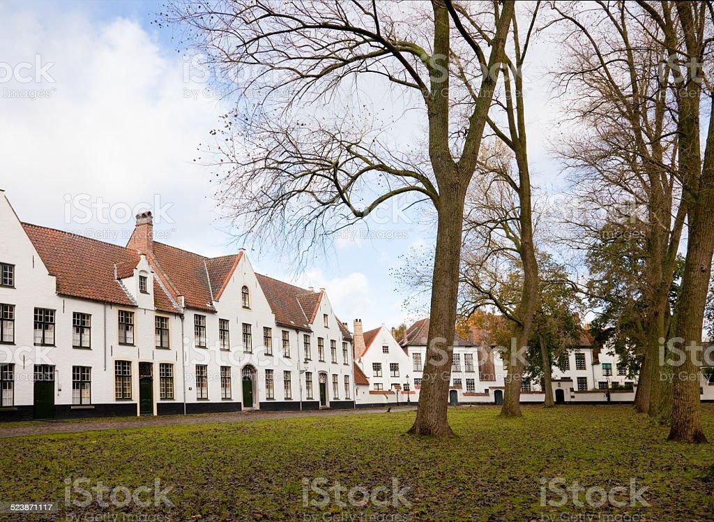 Beguinage monastery, Bruges, Belgium stock photo